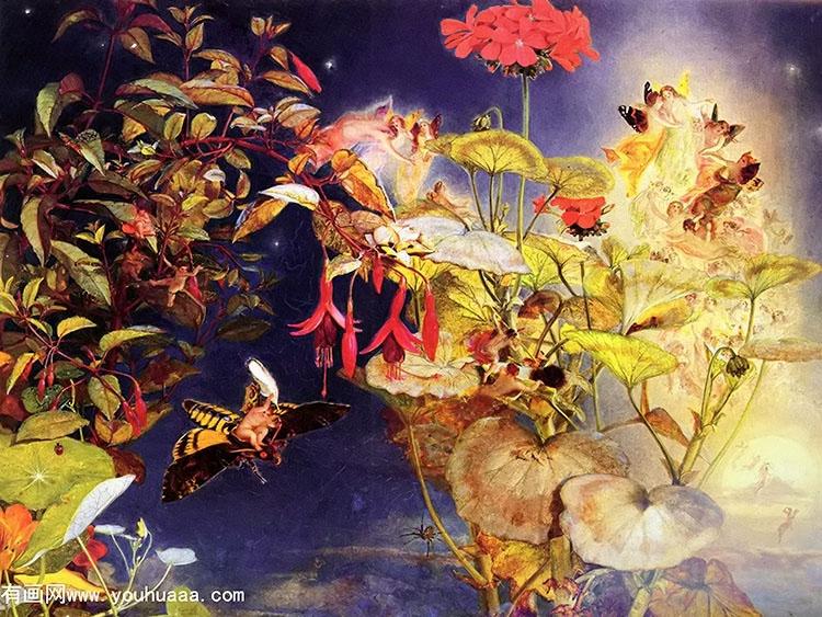 midsummer fairies,约翰乔治·奈什