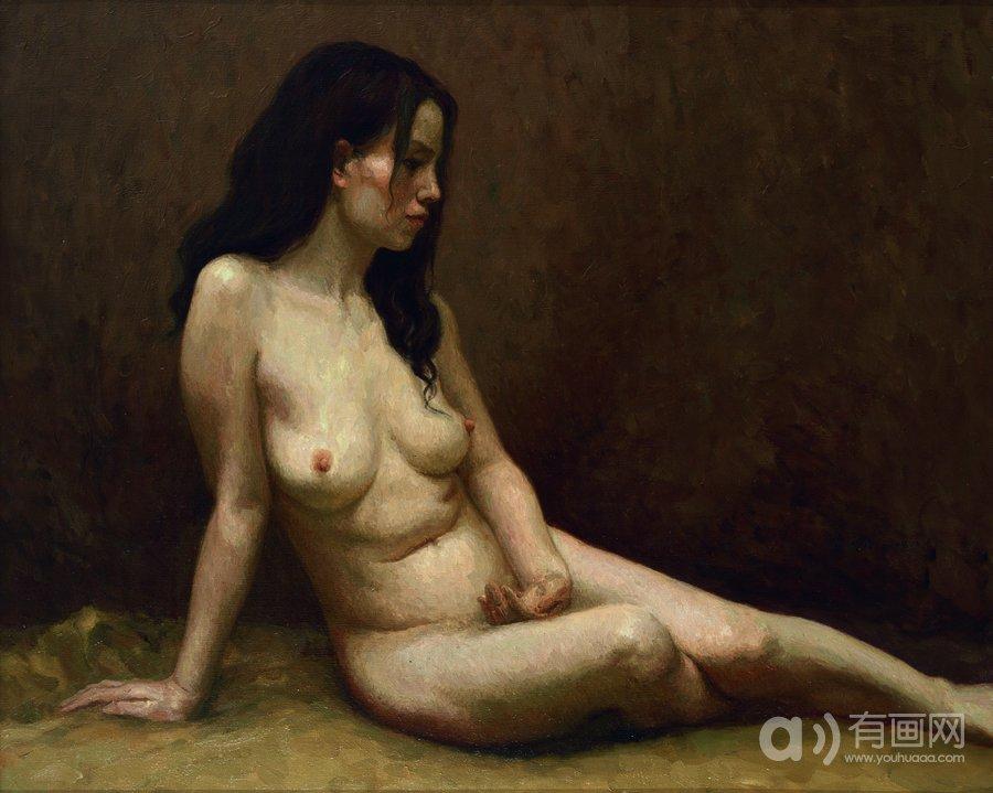 女人体,中国画家林笑初,人体油画