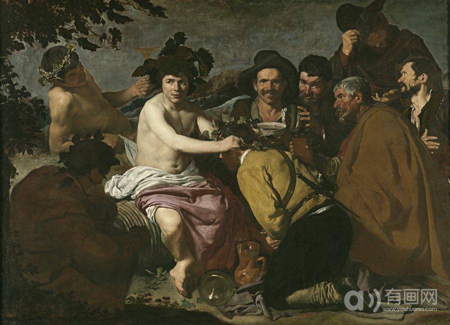 酒神巴库斯,迭戈·罗德里格斯·德·席尔瓦·委拉斯贵支