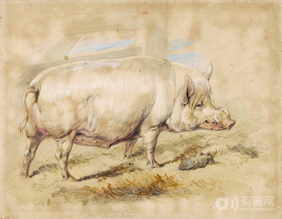 一头母猪,埃德温·亨利·兰德希尔爵士