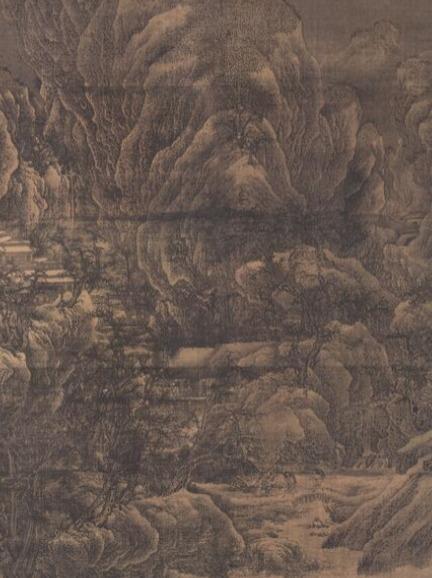 雪山楼阁图(传) 北宋 范宽 波士顿艺术博物馆