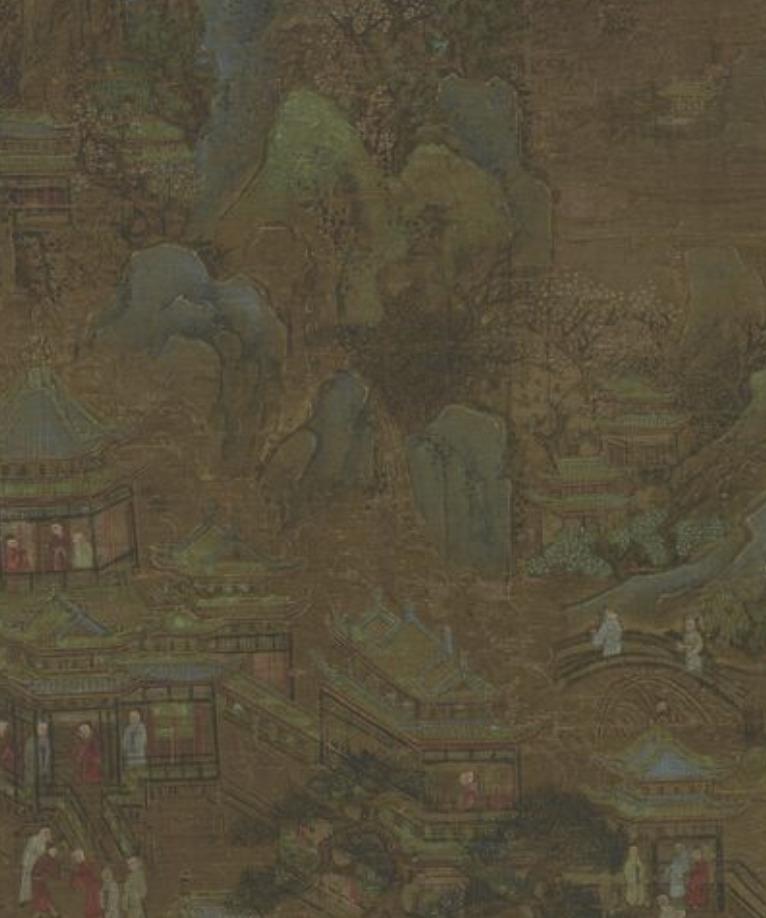 宫殿花园图页 南宋 李唐