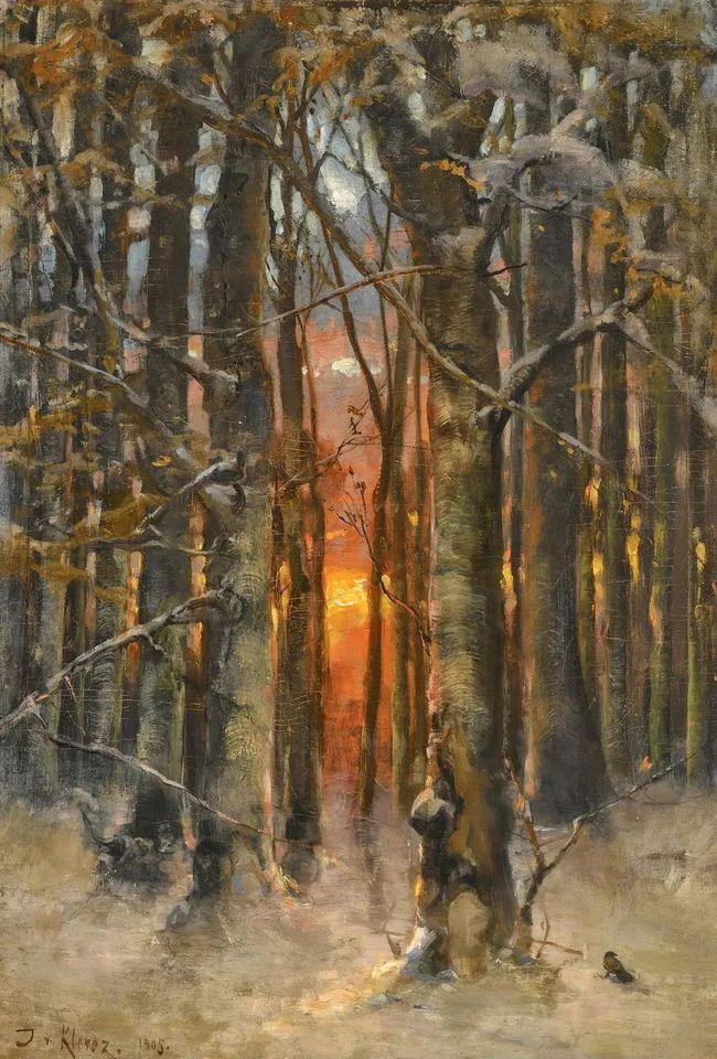 高对比度的美学手法,著名画家朱利叶斯笔下神秘浪漫的俄罗斯风景